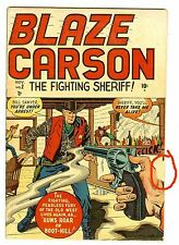 Blaze Carson #2 (Marvel/Atlas 1948; fn 6.0) guide value: $81.00 (£53.50)