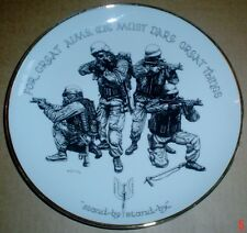 Blue Rose Porcelain Collectors Plate FOR GREAT AIMS, WE MUST DARE GREAT THINGS