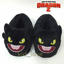 How to Train Your Dragon Toothless Shoes Night Fury Plush Slippers Adult 26.5CM