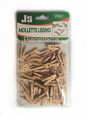 50 MOLLETTE IN LEGNO NATURALE DA 2,5 CM MINI BOMBONIERE FAI DA TE MOLLETTINE