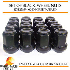 Alloy Wheel Nuts Black (16) 12x1.25 Bolts for Suzuki Solio 10-16