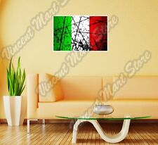 "Italy Country Flag Grunge Retro Wall Sticker Room Interior Decor 25""X20"""