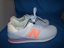 New Balance WL574BWA B Purple/Orange Womens Running Shoes Size-11