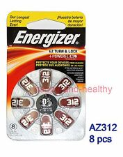 8pcs Energizer  Zinc Air  Hearing Aid Battery AZ312 (PR41) German made FREE POST