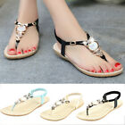 New Women Summer Bohemia Slippers Flip Flops Flat Sandals Beach Thong Shoes