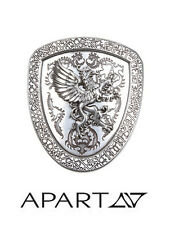 Gürtel-Schließe. APART. Wappen. Silberfarben. NEU!!! KP 39,90 €