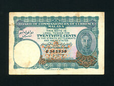 Malaya:P-3,25 Cents 1940 * King George VI * VF- *