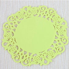 Yellow Coaster Mat Pad Cushion Drinks Tea Cup Tableware Placemat