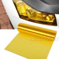 "12"" x 60"" Yellow Tint Car Headlight Protector Film Vinyl Glossy 1ft x 5ft"