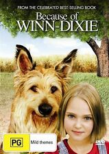 ●● BECAUSE OF WINN-DIXIE ●● (DVD, 2007) Anna Sophia Robb Jeff Daniels *AS NEW*