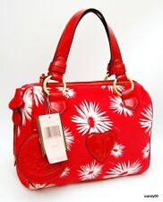 Nwt $228 JUICY COUTURE Velour Satchel Handbag Bag Tote ~Poinsetta Red