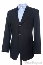 GUCCI Recent Black Blue Woven WOOL MOHAIR SILK Blazer Sport Coat Jacket - 40 R