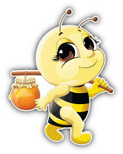 Funny Bee Honey Car Bumper Sticker Decal 4'' x 5''