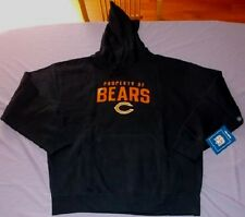 Chicago Bears Hoodie XL Navy Hooded Sweatshirt Reebok NFL