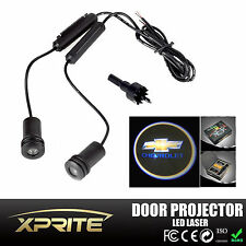 2x LED Car Door Laser Projector Ghost Shadow Step Light Logo Chevrolet