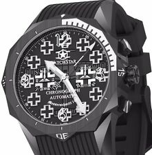 New Watchstar German Messerschmitt Bf 109 Automatic Chronograph Luftwaffe Watch