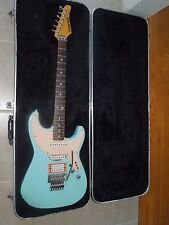 1987 Kramer Elliot Easton Pro1 Signature Elec Guitar Sky Blue + Orange 'Guard