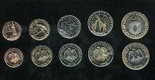 South Sudan Set 5 Coins, 10 20 50 piasters+1 2 pounds, 2015, UNC