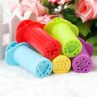 5Pcs Plastic Extruding Syringes Dough Plasticine Mold Kids Play Toy Craft Tool #