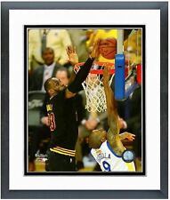 LEBRON JAMES IGUODALA BLOCK 2016 NBA Finals Framed/Matted 16X20 Photo Champs