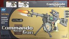 COMMANDO RECON GUN 71cm QUALITY TOY FUN, ACTION, ENTERTAINMENT &LIGHTS Pack Of 2