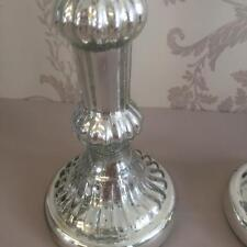 Il mercurio ARGENTO VETRO Candlestick per WEDDING Venue Vintage Home Decor