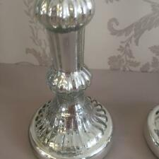 Silver MERCURY GLASS CANDLESTICK for Wedding Venue Vintage Home Decor