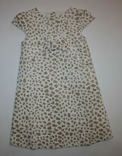 New Gymboree Right Meow Velveteen Animal Print Dress 4T NWT Ivory Brown