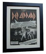 DEF LEPPARD+Pyromania+TOUR+POSTER+AD+RARE ORIGINAL 1983+FRAMED+FAST GLOBAL SHIP