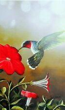 Jim Hansel Ruby Throated Hummingbird   7.75 x 12