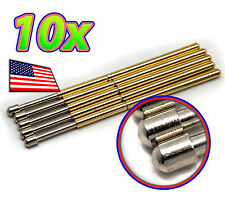 [10x] Round Dome Tipped Spring Loaded Pogo Pin - P160-D