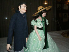 Porcelain Gone With The Wind, Scarlett O' Hara, & Clark Gable