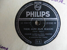 Frankie Laine con Paul Weston - There must be a reason / Some day - 78 giri
