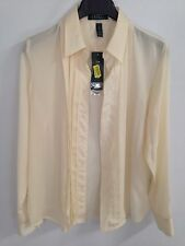 Ralph Lauren Beige Pleated Blouse Size L *NWT*