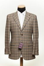SARTORIA PARTENOPEA NAPOLI Wool + Cashmere Jacket Plaids Checks 46US 56EU 6R