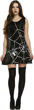 Adults Ladies Halloween Spider Web Sequin Fancy Dress Costume One Size UK 10-14