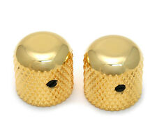 """(2) Gold Vintage Dome Knobs for Tele® & P Bass® 1/4"""" Solid Shaft MK-0110-002"""