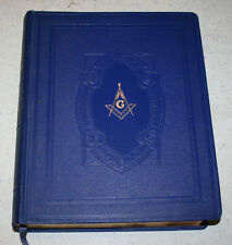 Vtg 1949 Hertel Masonic Red Letter Edition Bible Cyclopedic Index Illustrated