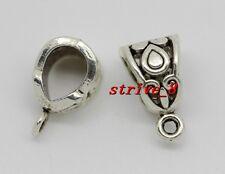 10/40/200pcs Tibetan Silver 6mm Hole Charm Bail Connector Bead Fit Bracelet