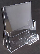 A4 Leaflet Dispenser / Brochure Holder with Business Card Holder PDSC230BCH