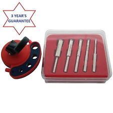 DIAMOND CORE TILE DRILL BIT KIT SET + VACUUM BASE DRILL GUIDE - NEW