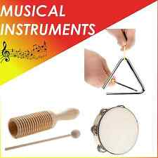 Percussion instruments set for children band hand drum tambourine triangle Wiro