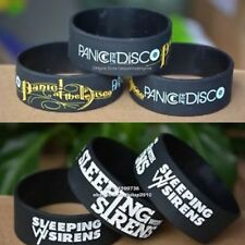 "Sleeping With Sirens & Panic At The Disco Wristband 1"" Wide