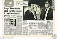 Coupure de presse Clipping 1976 (2 pages) Herman Melville  Film Bartleby Ronet