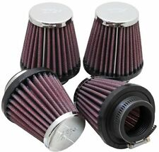 K&N RC-2314 Motorcycle Universal Chrome Air Filter - Pack of 4