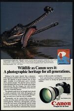 1983 GHARIAL - CANON F-1 & Fd300mm Lens Camera VINTAGE AD