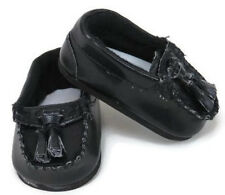 "Black Loafer Shoes with Tassel Boy made for 18"" American Girl Doll Clothes"