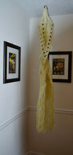 Large Off White Vintage Macrame Double Plant Hanger Over 5 Feet Long Beautiful 9