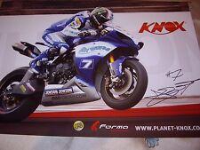 James Ellison firmado GSE Racing Airwaves Yamaha BSB equipo Cartel