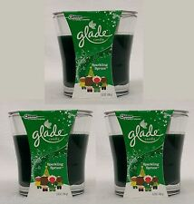 3 Jars Glade SPARKLING SPRUCE Scented Candles 3.8 oz